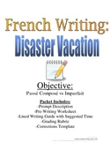 Passe Compose and Imparfait Writing Prompt for French, Rubric and Pre-Writing