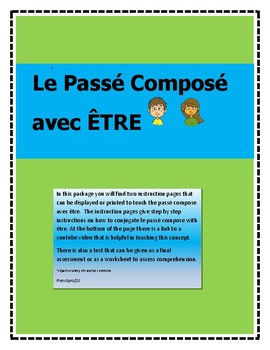 French Passe Compose avec Etre -learning how to conjugate past tense