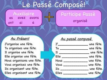 Passé composé - uzupełnij odmianę czasownika organiser w czasie passé composé - Francuski przy kawie