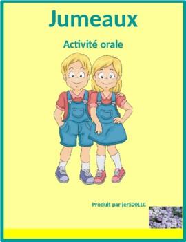 Passé Composé avec être Jumeaux Speaking activity