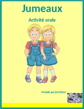 Passé Composé avec être Jumeaux French Twins Speaking activity