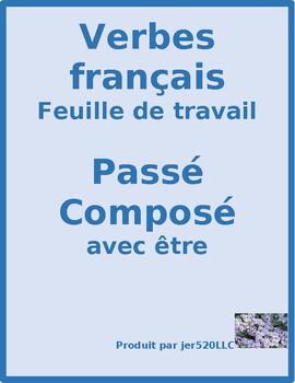 Passé Composé avec être French worksheet 9