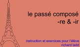 Passé Composé for Home - Distance Learning