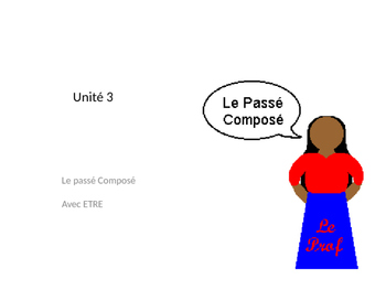 Passe Compose with ETRE in French