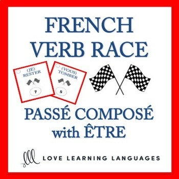 Passé Composé with Être - French Verb Race Game