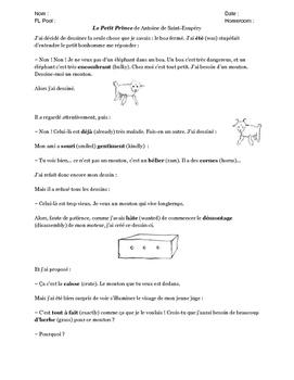 Passé Composé with Le Petit Prince (avec l'auxiliaire avoir)