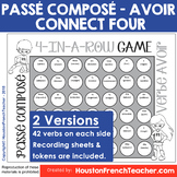 Passe Compose with Avoir Game - Connect Four in a row (84 verbs)