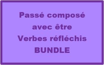 Passé Composé with être Reflexive verbs French Bundle