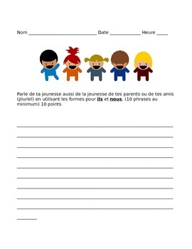 French Passe compose Imparfait writing assessment