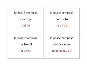Passé composé of Irregular verbs Question Question Pass activity