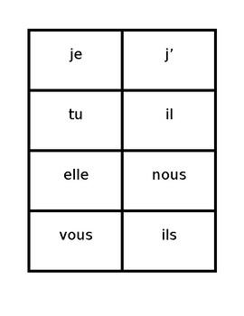 Passé composé French verb conjugator card game