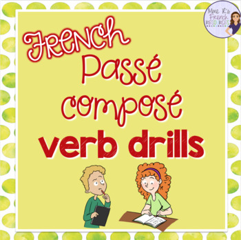 Passé composé verb drill games JEU DE VERBES