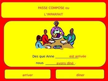 Passe compose vs. imparfait french francais past imperfect