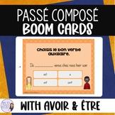 Passé composé digital task cards FRENCH BOOM CARDS