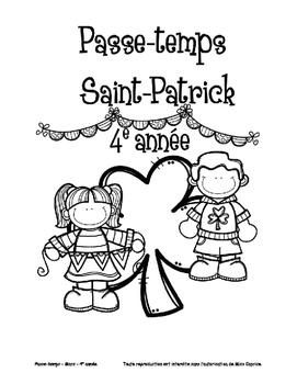 Passe-temps St-Patrick - 4e année