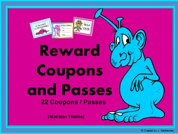 Passes / Coupons (Rewards for Behavior Management)