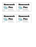 Passes / Coupons for Classroom Management Incentives