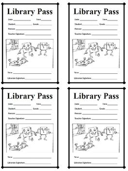 Passes: Library Hall Pass / Student Library Pass