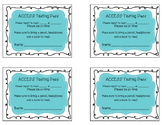 Passes for ACCESS testing
