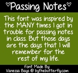 Passing Notes - Font - FREE for PERSONAL use