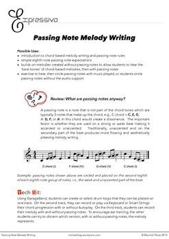 Passing Notes Melody Writing