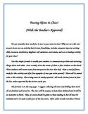 Passing Notes in Class ~ Writing ~ Self Awareness ~ Self Esteem