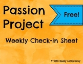 Passion Project Check-In Sheet