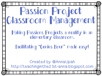 Passion Project Classroom Management