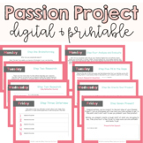 Passion Project   Genius Hour   Distance Learning Digital Resource + Printable