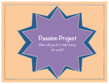 Passion Project- Genius Hour- 20% Project