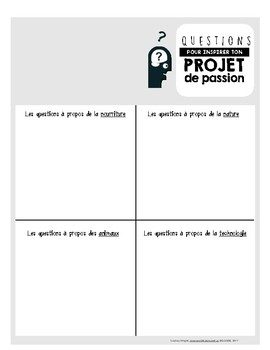 Passion Project Idea Worksheets