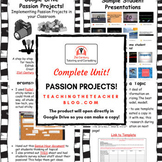 Passion Project Unit in Google Drive | Distance Learning