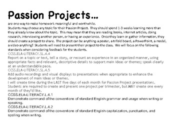 Passion Projects