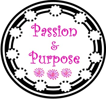 Passion & Purpose Terms of Use and Logo