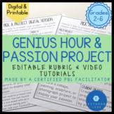 Genius Hour Passion Project Pack Genius Hour Rubric Inquir