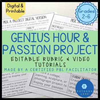 Genius Hour - Showcase Your Student's Passions