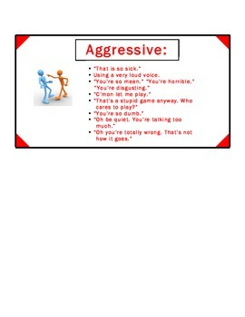 Passive, Assertive & Aggressive Behaviors