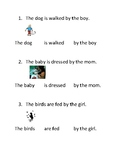 Passive Verb tense with pictures