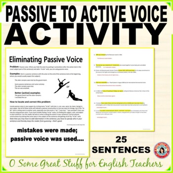 Passive Voice Activity- Discussion, Identification, and Writing in Active Voice