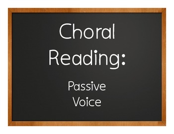 Spanish Passive Voice Choral Reading