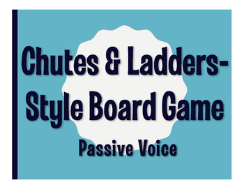 Spanish Passive Voice Chutes and Ladders-Style Game