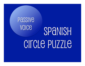 Spanish Passive Voice Circle Puzzle