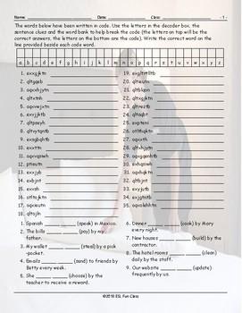 Passive Voice Decoder Box Worksheet