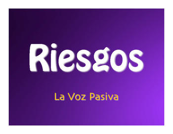 Spanish Passive Voice Jeopardy-Style Review Game