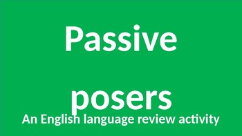 Passive Voice Posers