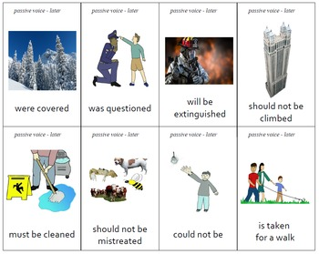 """""""Different"""" Passive Voice Practice Cards - Set of 64"""
