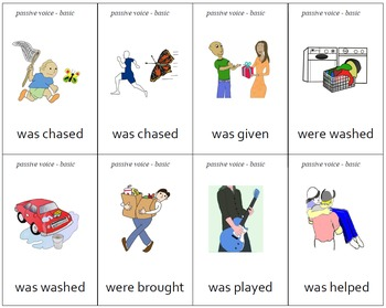 """Different"" Passive Voice Practice Cards - Set of 64"