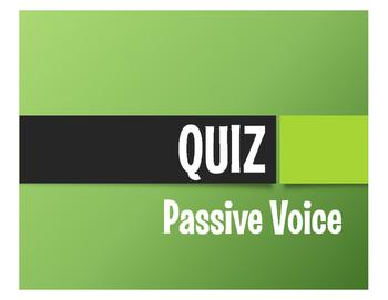 Spanish Passive Voice Quiz