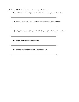 Passive Voice Worksheet with answer key.