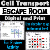 Passive and Active Cell Transport Activity: Biology Escape Room Science